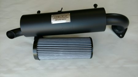 #R2595/PR0822 - POLARIS RZR 1000 2015 - 2020 SLIP ON MUFFLER FILTER COMBO DEAL