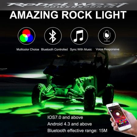 ROCK LIGHTS - 6 POD RGB WITH BLUETOOTH