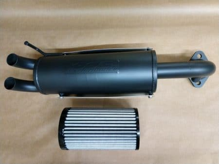 #3009/PR2265 - POLARIS RANGER 1000 XP, CREW PERFORMANCE MUFFLER + HIGH FLOW AIR FILTER COMBO