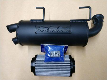 #0914/P9614/K238L - POLARIS SPORTSMAN 550 850 XP TRAIL TAMER MUFFLER + HIGH FLOW FILTER + Pre Filter